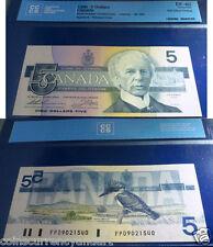 PRINTING ERROR 1986 Bank of Canada $5-Beautiful Certified & Protected
