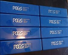Wholesale lot 8 PCGS storage coin protection cases 8 X 20 coin box fits 160 coin