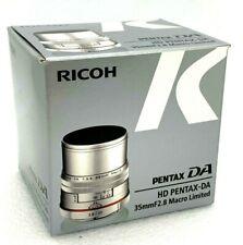 New HD PENTAX DA 35mm f/2.8 Macro Limited Lens (SILVER)  for K Mount Pentax-DA