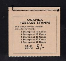 Uganda 1962 5s  Agriculture  Coffee Animals Mountain of Moon  Booklet  SG SB1