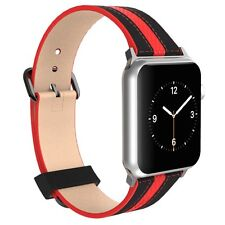 For Apple Watch 38mm Poetic【Premium Leather】Integrated Metal Clasp