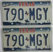 TEXAS matching pair licence/number plates US/United States/USA/American 790mgy