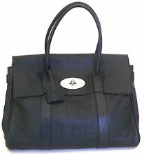 MULBERRY Large BAYSWATER Black Grainy Leather / Goldtone Hdw Handbag BARELY WORN