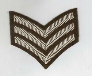 BRITISH ARMY SERGEANTS CHEVRONS/STRIPES/INSIGNIA —-  SINGLE
