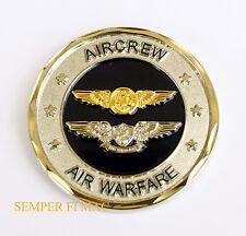AIRCREWMAN AIR WARFARE WING CHALLENGE COIN PIN US NAVY P3 A6 SH60 P3 F14 F18 S3