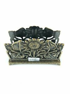 Letter Port Letters For Desk Office Brass With Sunflowers Classic
