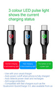 Smart USB-C Cable Tough Auto Power Cutoff Safety, 3 Colour LED, 2 YEAR WARRANTY