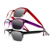 Bifocal Transition Photochromic Silver Rivets  Reading Glasses UV Sun Readers