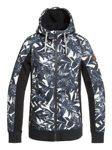 New Roxy Womens Frost Printed Winter Hoodie.