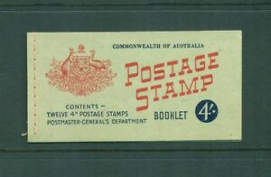 Australia 1957 4s QEII with Wax interleaves  Booklet SG SB33a