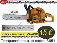 piece Chaine Tronçonneuse club cadet  3651 MTD 325 pour guide 38 cm oregon aa