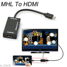 Micro USB 2.0 MHL To HDMI Cable HD 1080P For Samsung Galaxy S2 For Androidnew