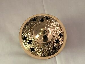 NEW! 3.5 Inch Ornate 3 Piece Brass charcoal resin incense burner With Free Resin