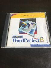 Corel WordPerfect Suite 8 PC CD ROM Windows Word Perfect Academic Edition
