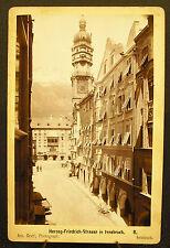 Photo c1890 Herzog-Friedrich-Straße Innsbruck Autriche Photographie ancienne
