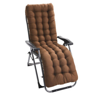 Sun Lounger Cushion Pad Replacement Chair Seat Recliner Cotton Garden Outdoor