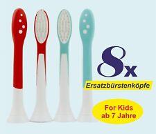 8 x Aufsteckbürsten passend Philips Sonicare for Kids HX6044 Ersatzbürsten