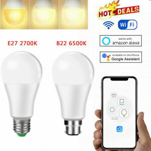 Smart Wifi LED Light Bulb App Control 2700K/6500K for Amazon Alexa/Google Home