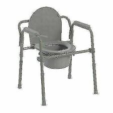 Drive Medical 11148-1 Steel Folding Bedside Commode