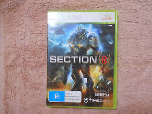 XBOX 360 GAME: SECTION 8 WITH MANUAL VERY GOOD COND - FAST POST