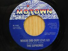 Supremes 45 Where Did Our Love Go / He Means The World To Me - Motown VG
