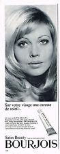 PUBLICITE ADVERTISING 084  1966  BOURJOIS  cosmétiques  SATIN BEAUTY