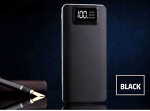 Portable 3000000mAh LCD Power Bank External 2 USB Battery Charger Black