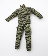 1/6 Uniforms Coveralls Suit Marine Vietnam Camo Tiger Strip Fit Toys B005 Body
