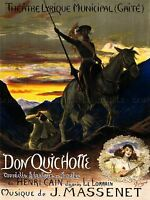 ADVERTISING THEATRE STAGE PLAY DON QUIXOTE SANCHO PANZA ART POSTER PRINT LV1187