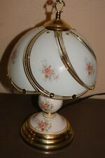 Decorative Gold  Flower Touch Table Lamp Vintage Bedroom Desk 3-Way Sensor 15 in