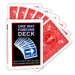 1 One Way Forcing Deck - Genuine Bicycle Red Backed Cards - Choose Suit & Value