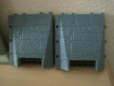Imaginext Battle Castle BLUE STONE WALL GRATES - 2