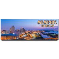 Memphis panoramic fridge magnet Tennessee travel souvenir