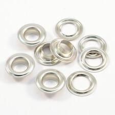 50 Ösen 10mm DIN 7332, silber, Edelstahl V2A INOX, für Leder, Plane, Markisen