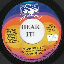Johnny Adams DEEP SOUL 45 (SSS International 770) Reconsider Me/If I  VG++/M-