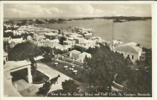 Bermuda SG#111(single frank) ST GEORGES 30/AUG/1938 REAL PHOTO POSTCARD VIEW