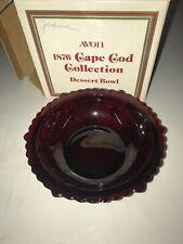 Avon 1876 Cape Cod Collection Ruby Red Dessert Bowl w/ Original Box
