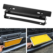 Universal Adjustable Carbon Fiber Number Car Racing License Plate Frame Holder