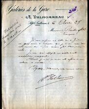 """SILLE-le-GUILLAUME (72) GALERIES DE LA GARE / BAZAR """"A. DELHOMMEAU"""" en 1929"""