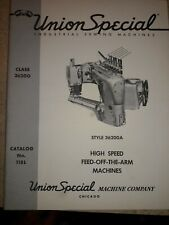 Union Special Manual High Speed Feed Off The Arm 36200 Dated 1960 Free Shiping