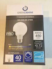 Green Creative 97729 G25 LED Globe Light Bulb 6G25DIM/827 G25-E26-6W-2700K LED