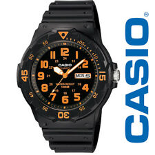 Casio MRW200H-4BV, Analog Watch, Black Resin Band, Day/Date, 100 Meter WR
