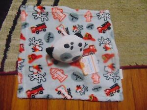 Swiggles Dalmatian Puppy Dog Fire Truck Baby Security Blanket Lovey Red Gray HTF