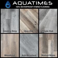 6.5mm AQUATIMES SPC Hybrid Vinyl Flooring Sample Water Proof Floating