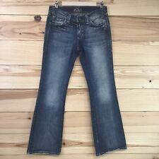 Mavi Jeans 28 x 32 Low Rise Boot Cut Zoe Faded Medium Wash Cotton Denim Pant B24