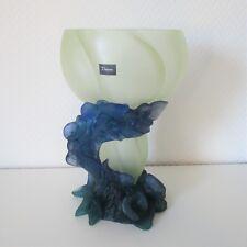 Große 27,7 cm Vase Daum Nancy mit Pâte-de-Verre - Original Verpackung - 2571/517