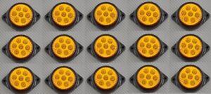 15 x  LED 12V Side Marker Amber Lights Car SUV Camper 4x4 Pickup for Ford Opel