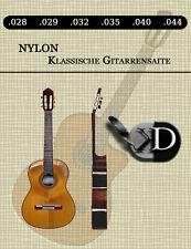 Nylon Gitarrensaiten für Klassikgitarre Konzertgitarre 028 - 044 Set 6 Saiten