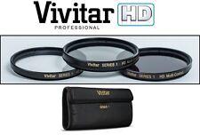 HD UV POLARIZER & FLD FILTER (3-PC KIT) SET FOR CANON POWERSHOT SX530 HS