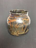 vintage Rappaport Signed and Dated Stoneware Pottery Art Jar Vase Mid Century